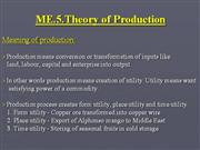 ME.5.Theory of production