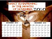 whats on this month november 2010
