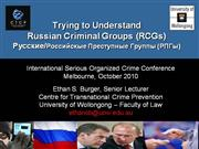 2010 -- Melbourne Presentation on Russian OCGs - Final
