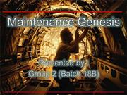 Maintenance Genesis Presentation