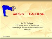Micro-Teaching