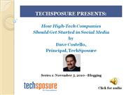 TechSposure Presents: Blogging for High-Tech Companies