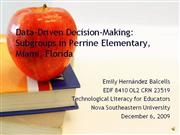 Balcells presents: Data-Driven Decision-Making in MDCPS