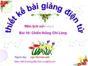 Chien thang Chi Lang