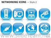 CONCEPT NETWORKING ICONS 2 INSTRUMENT POWERPOINT SLIDES