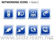 CONNECTION NETWORKING ICONS 2 INSTRUMENT POWERPOINT SLIDES