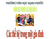 Cac the he trong gia dinh
