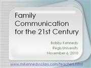 Family Communication in the 21st Century