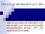 Guidelines under Weights & Measures Act, 1976