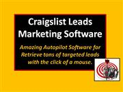 Craigslist Leads Marketing Software