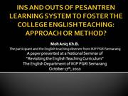 Aniq_National Seminar_English Teaching