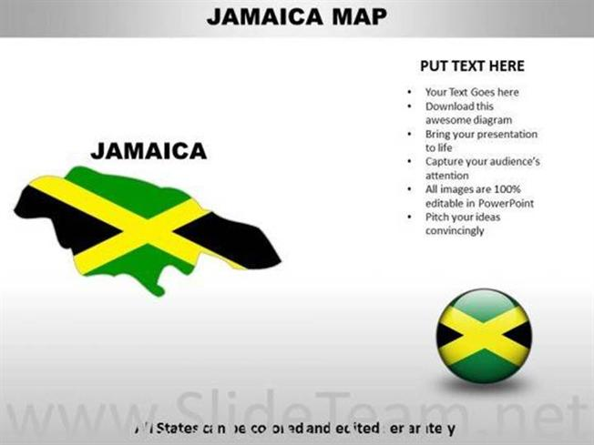 Country powerpoint maps jamaica powerpoint diagram related powerpoint templates toneelgroepblik Gallery