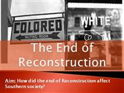 9-The End of Reconstruction