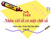 nhan voi so co 1 chu