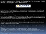 corcentric announces new webinar on changing the face of accounts paya