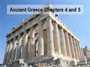 Ancient Greece Chapter 4 and Chapter 5 Compressed