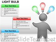 DRAWING LIGHT BULB POWERPOINT SLIDES