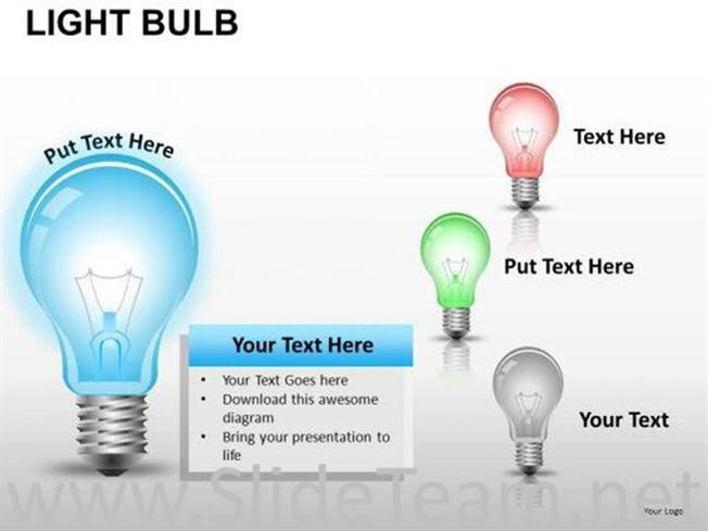 electricity light bulb powerpoint slides-powerpoint diagram, Powerpoint templates
