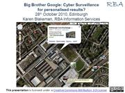 Big Brother Google