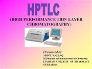 HpTLC power point
