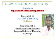 optical rotatory dispersion