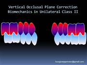 Unilateral Class II correction biomechanics