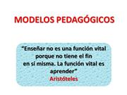 modelos pedagogicos