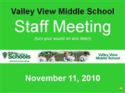 Staff Meeting Nov 11th