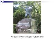 The Quest for Peace Chapter 19