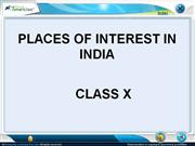 PLACES OF INTEREST IN INDIA