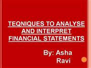 techniques used in analysing and interpreting financial statements