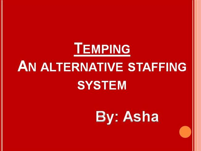 temping staffing technique authorstream