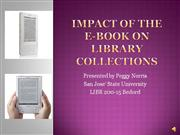 impact of the e-book on library collections