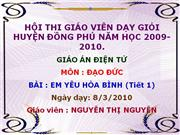 em yeu hoa binh