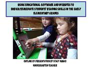 using educational software and websites