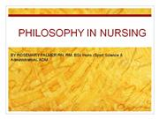 philosophy for nurses