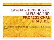 the ethos of nursing