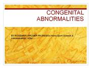 congenital abnormalities