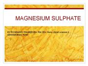 magnesium sulphate in obstetrics