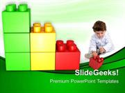 PLAY WITH LEGO BLOCK BABY POWERPOINT TEMPLATE