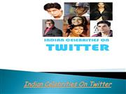 indian celebrities on twitter