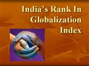 India�s Rank In Globalization Index