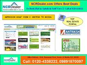 affordable flats in antriksh golf view 2 at sector 78 noida
