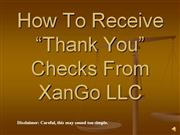 how to receive thank you checks from xango llc