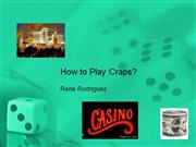 how to play craps?