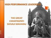 High Performance Leadership - Shivaji Maharaj