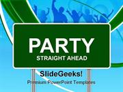 PARTY SIGN ENTERTAINMENT POWERPOINT TEMPLATE