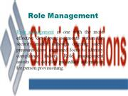 Role Management Module