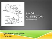 major connectors in cast partial dentures