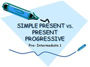 simple present vs present continous